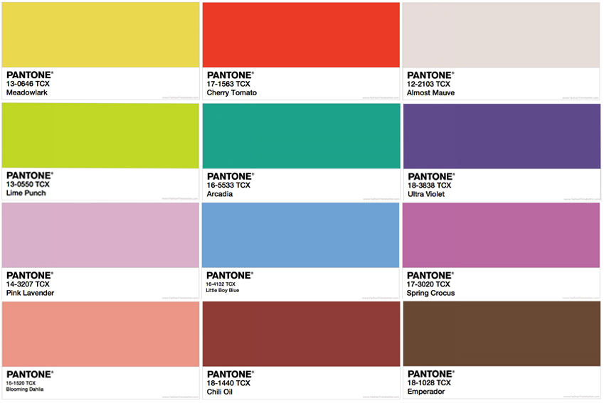 Pops Of Bold Color Will Still Be Trending All The Way Through 2018 Ooo La Take A K At Pantone Trends For Spring